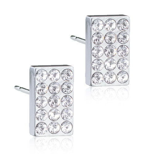 Brilliance Oblong Crystal Silver