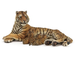 Tigerhona med diande ungar (Papo)