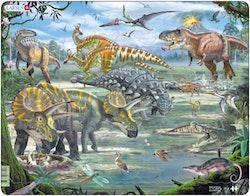 Dinosaurier, vid vulkan, 65 bitar