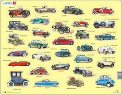 Fordon, bilar, 30 bitar