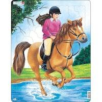 Häst med ryttare 50 bitar