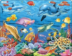 Havsdjur korallrev 35 bitar