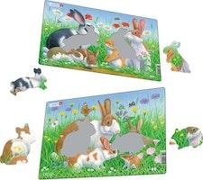 Kaniner, 2 pussel á 8 bitar