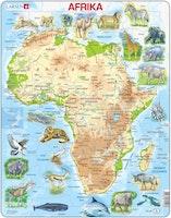 Karta Afrika 63 bitar