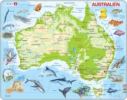 Karta Australien 65 bitar