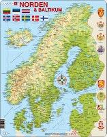 Karta Norden & Baltikum 75 bitar