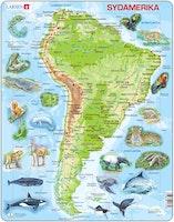 Karta Sydamerika 65 bitar