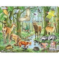 Nordiska djur i skogen, 40 bitar
