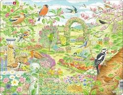 Fåglar i trädgården 60 bitar