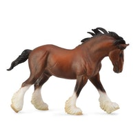 Clydesdale hingst, brun (Collecta)