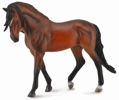 Deluxe 1:12 Andalusier hingst brun (Collecta)