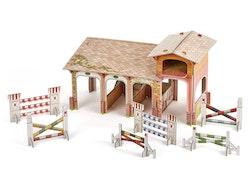 Stall, byggsats av hård kartong (Papo)