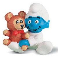 Smurfbaby med teddybjörn