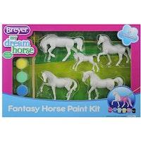 Måla 5 modellhästar fantasy, 8 cm