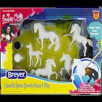 Måla 5 modellhästar, 8 cm