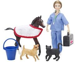 Veterinär 17 cm, med djur