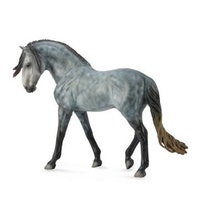 Deluxe 1:12 Andalusier hingst grå (Collecta)