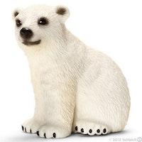 Isbjörnsunge sittande (Schleich)