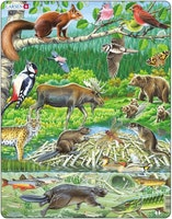 Nordiska djur 45 bitar