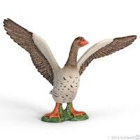 Tamgås med uppfällda vingar (Schleich)