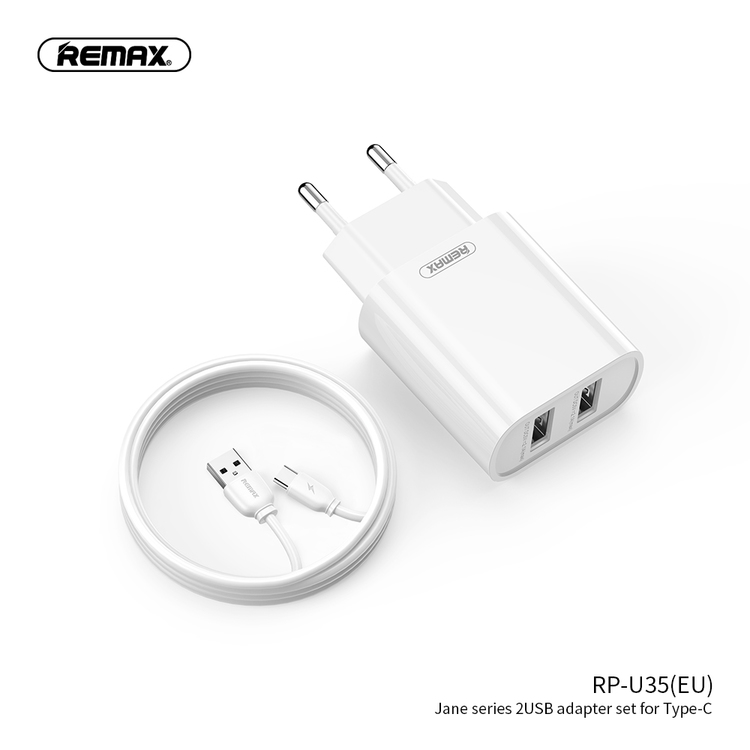 Effektiv USB-C kabel med adapter 1M
