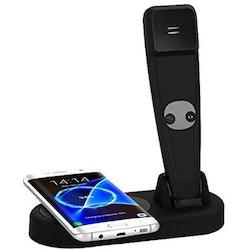 Trådlös laddare med bärbar bluetooth telefon