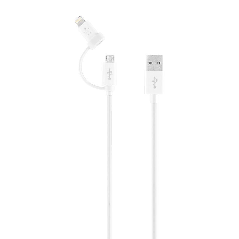 Belkin mikro-USB-till-USB-kabel med Lightning-adapter