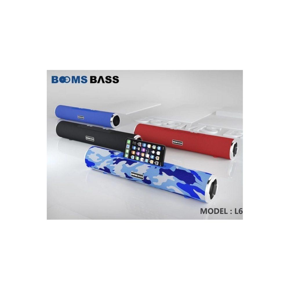 BOOMS BASS L6 Bluetooth-högtalare Bärbar utomhus trådlös högtalare Stereobassmusikljud