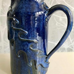 Havsblå kanna drygt 1 liter