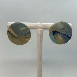 Blue swirl studs