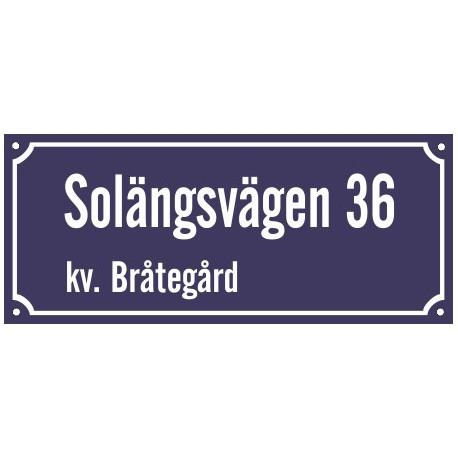 Tvåradiga Husskyltar - Husskylten.se