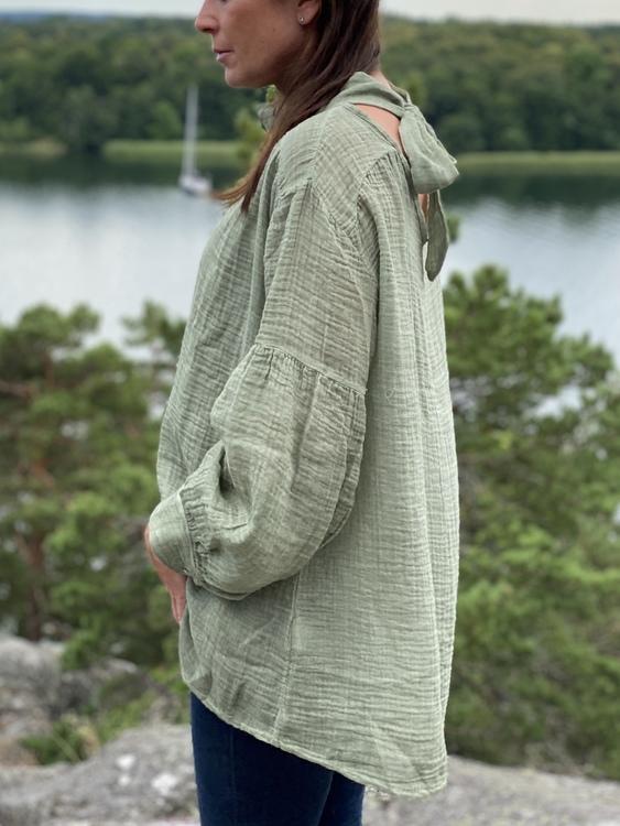 Blus Vaxholm Grön