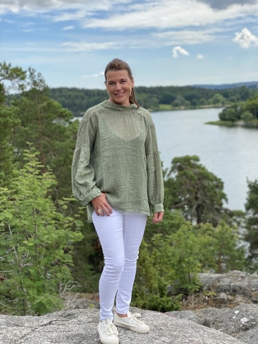 Blouse  Vaxholm green
