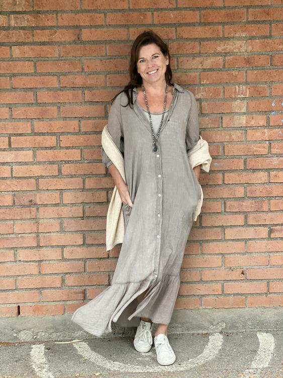 Ljuvlig lång boho klänning/skjorta