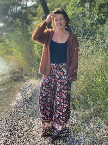 Boho pants  Black/red