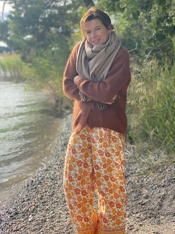 Flower byxa orange