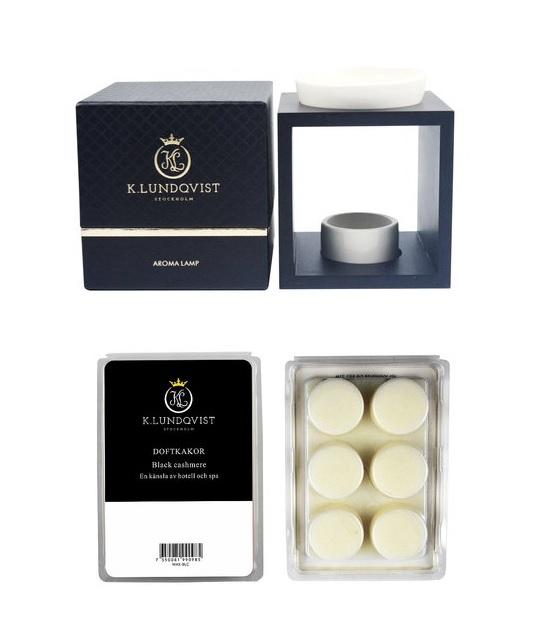 Aromalampa + vaxkakor White Pearls ( doft nytvättat)
