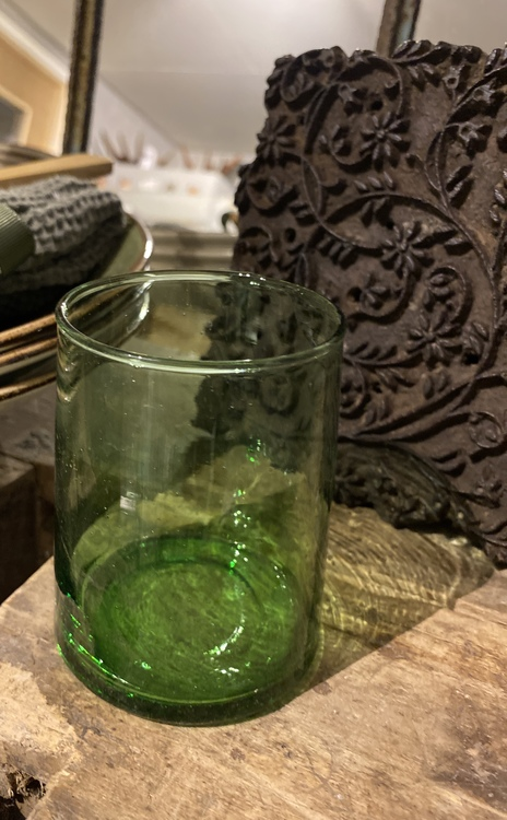 Dricksglas grön
