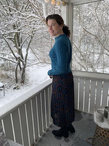 Plisserad kjol med mönster