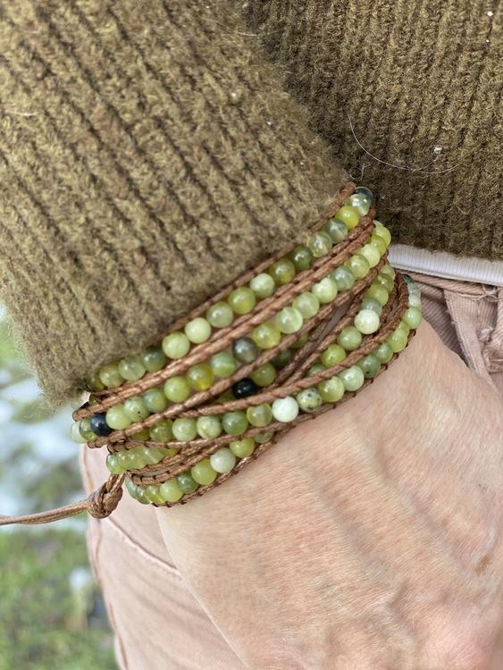 Boho armband med stenpärlor