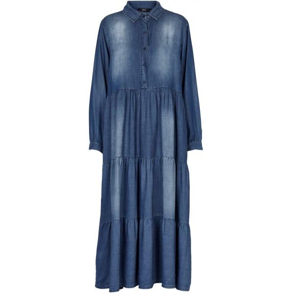 Bomullsklänning i soft jeanstyg maxi dress