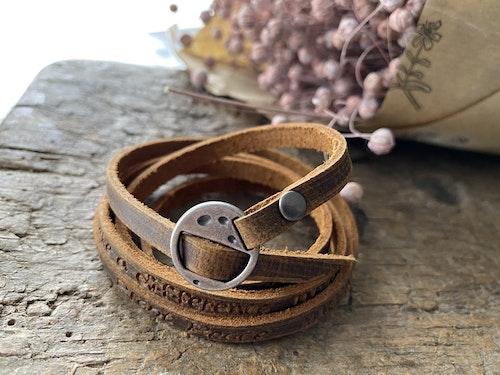 Vintage armband läder