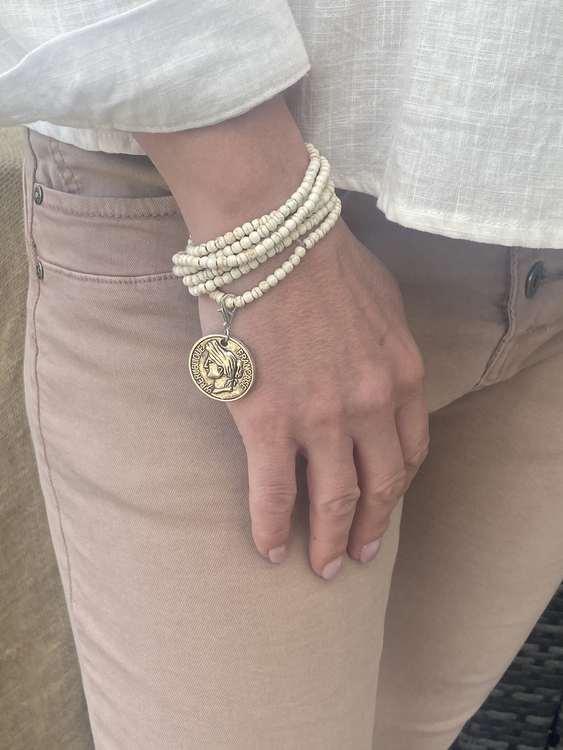 Lucky coin armband/halsband