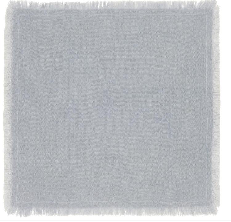 Napkin double weaving light blue