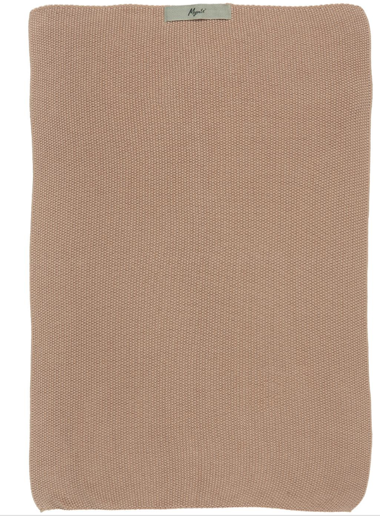 Towel Mynte faded rose knitted