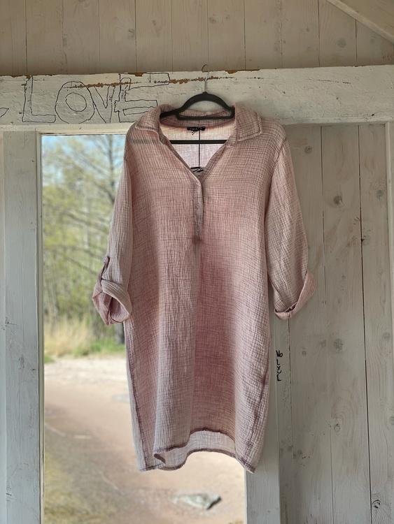 Våfflad bomulls tunika / klänning
