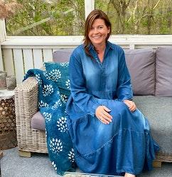 Denim blå maxiklänning