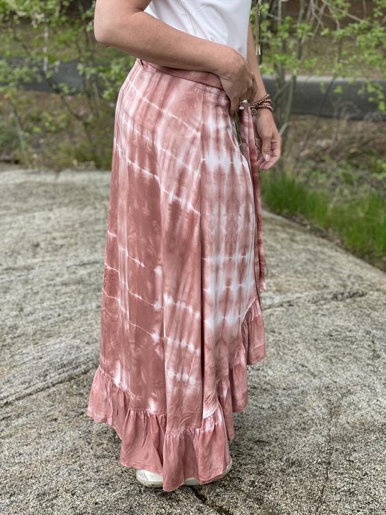 Omlott kjol i candy rosa