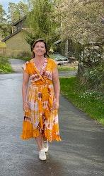 Coconut & Milk omlottklänning orange