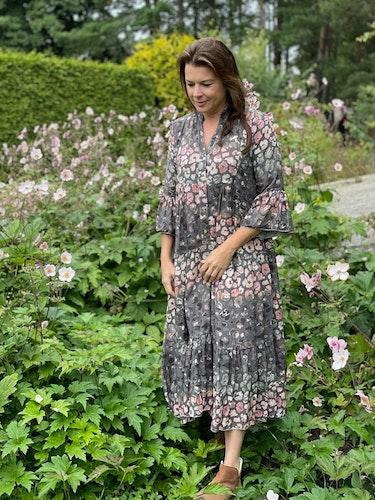 Dryes rosa flower maxi klänning
